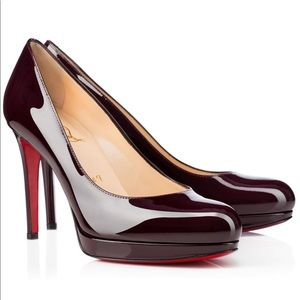 Louboutin Black New Simple Pump 100mm Size 39